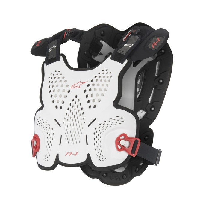 Kit Protection Body Armour Roost Guard Alpinestars A1 - - White Black Red Blue Medium - Large