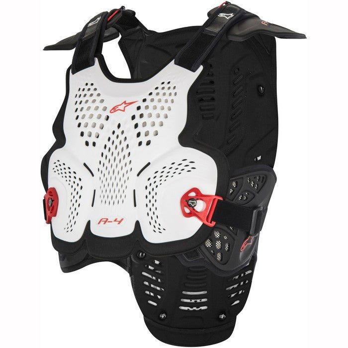 A4 Chest Protector - White/Black/Red