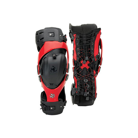 Asterisk Germ Knee Braces Red - Youth