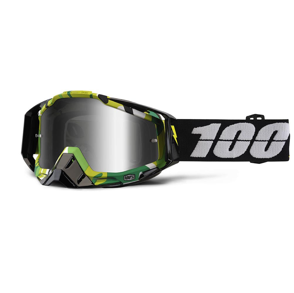 Kit Goggle 100 Percent Race Craft Bootcamp - 2017- Mirrored Lens