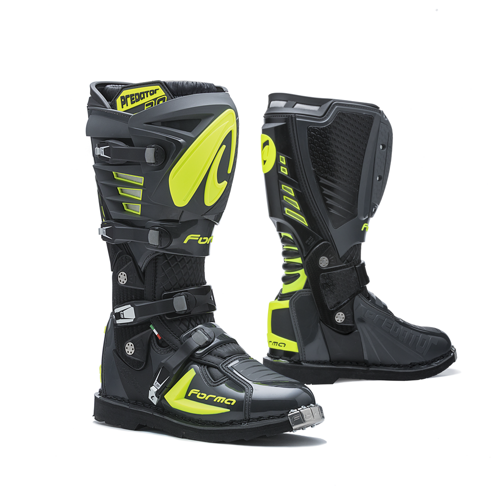 Forma MX Boot Predator 2.0 Anthracite/Fluo Yellow