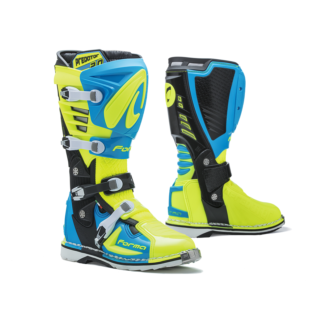 Forma MX Boot Predator 2.0 Light Blue/Flou Yellow