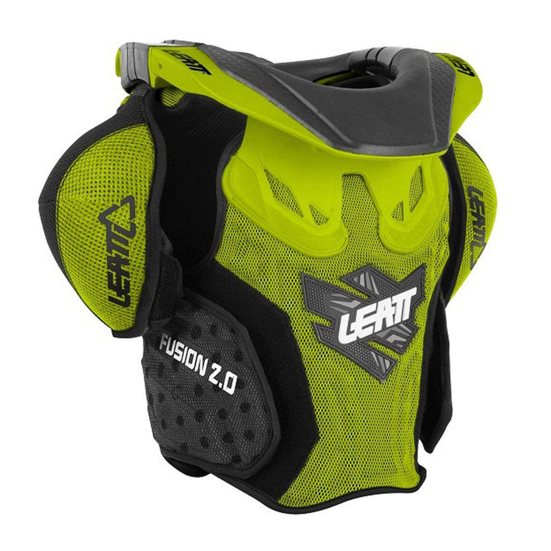 Kit Protection Body Armour Neck Brace Leatt Fusion 2-0Youth Armour and Brace- 2014- Green S-Small M - Medium
