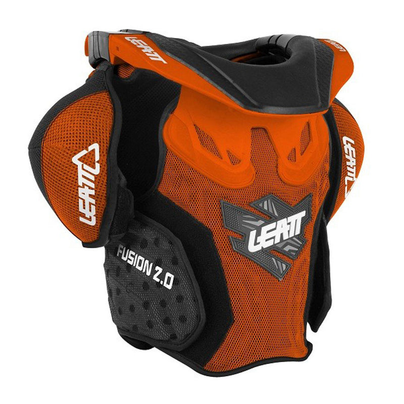 Kit Protection Body Armour Neck Brace Leatt Fusion 2-0Neck vest Youth Armour and Brace- - Orange Green S-Small M - Medium
