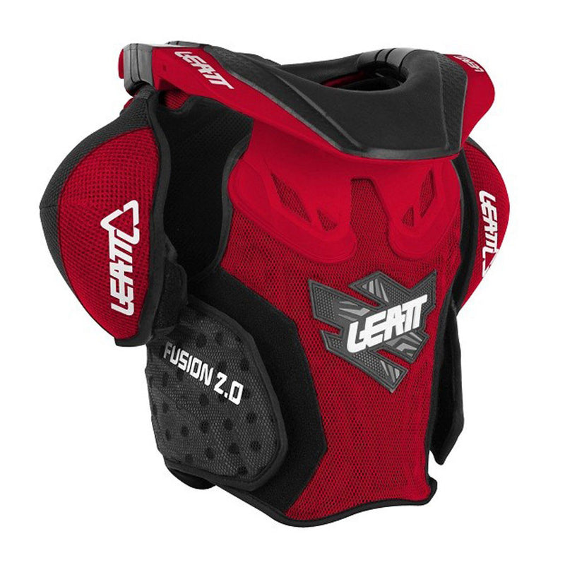 Kit Protection Body Armour Neck Brace Leatt Fusion 2-0Neck vest Youth Armour and Brace- - Red Green S-Small M - Medium