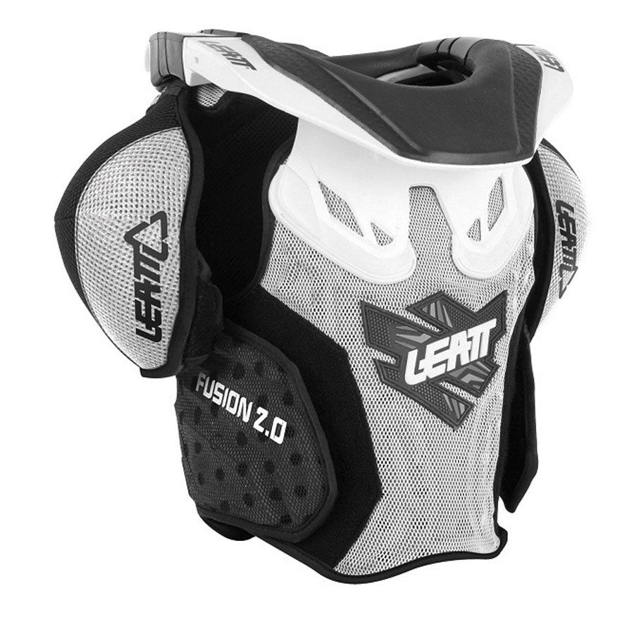 Kit Protection Body Armour Neck Brace Leatt Fusion 2-0Neck vest Youth Armour and Brace- - White Green S-Small M - Medium