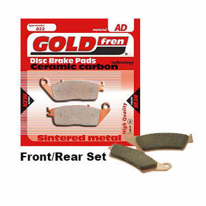 Gold Fren Yamaha Brake Pads Front/Rear Set