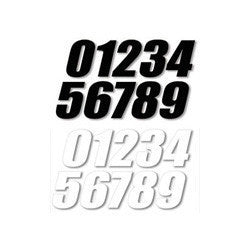 Chassis Plastics Graphics Numbers Race Spec Heavy Duty 3 Pack - - Black 6in 0