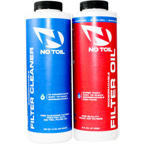 No-Toil Motocross Twin Pack Filter Oil/Cleaner
