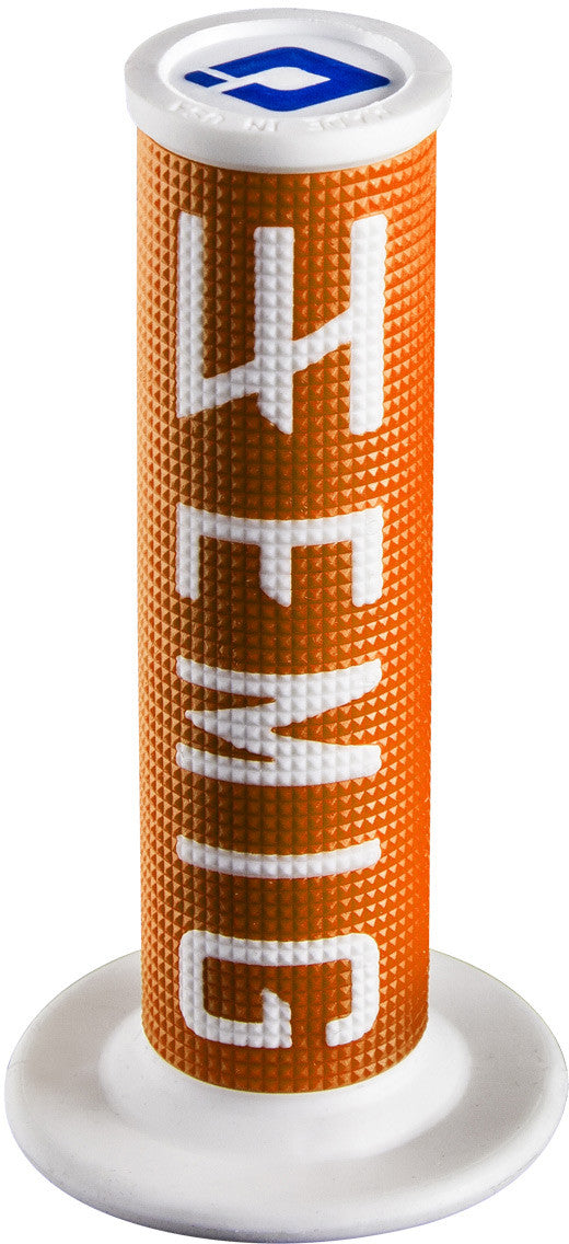 ODI Emig Racing Lock-On Grips Orange White 2T