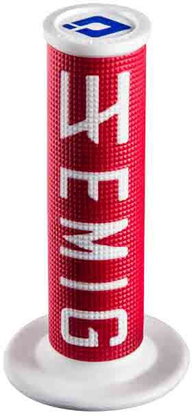 ODI Emig Racing Lock-On Grips Red White 4T