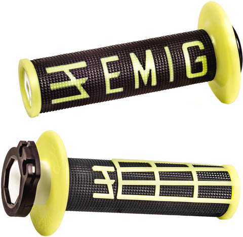 ODI Emig Racing Lock-On Grips Limited Fluo Yellow 4T