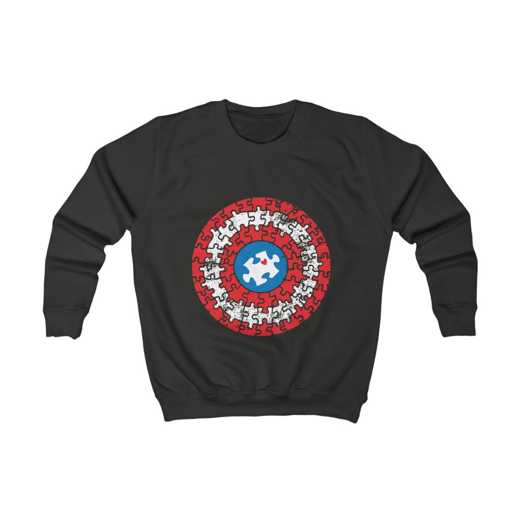 ِCaptain autism Kids Sweatshirt