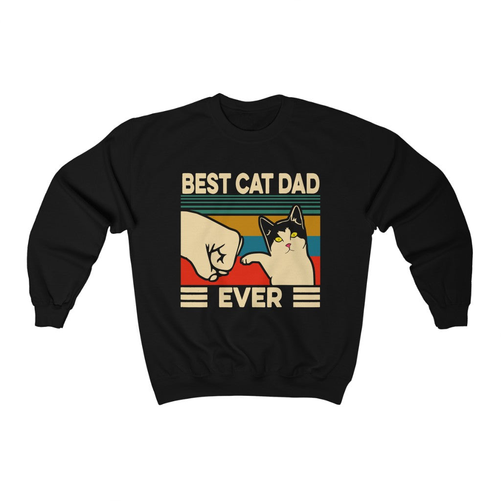 Best Cat Dad Ever Unisex Heavy Blend™ Crewneck Sweatshirt