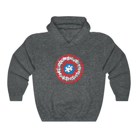 ِCaptain autism Unisex Heavy Blend™ Hooded Sweatshirt
