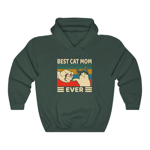 best cat mom ever Unisex Heavy Blend™ Hooded Sweatshirt