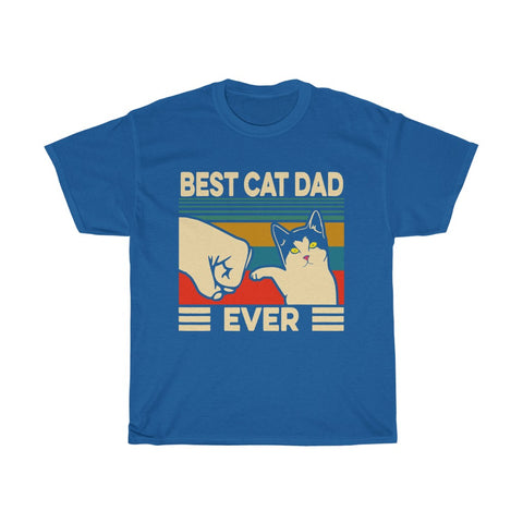 Best Cat Dad Ever Unisex Heavy Cotton Tee