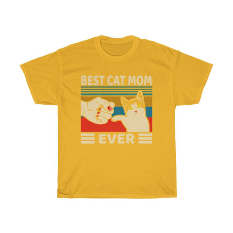 best cat mom ever Unisex Heavy Cotton Tee