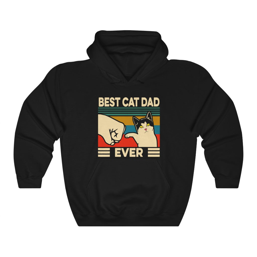 Best Cat Dad Ever Unisex Heavy Blend™ Hooded Sweatshirt