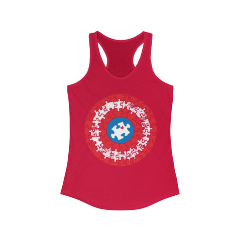 ِCaptain autism Women's Ideal Racerback Tank