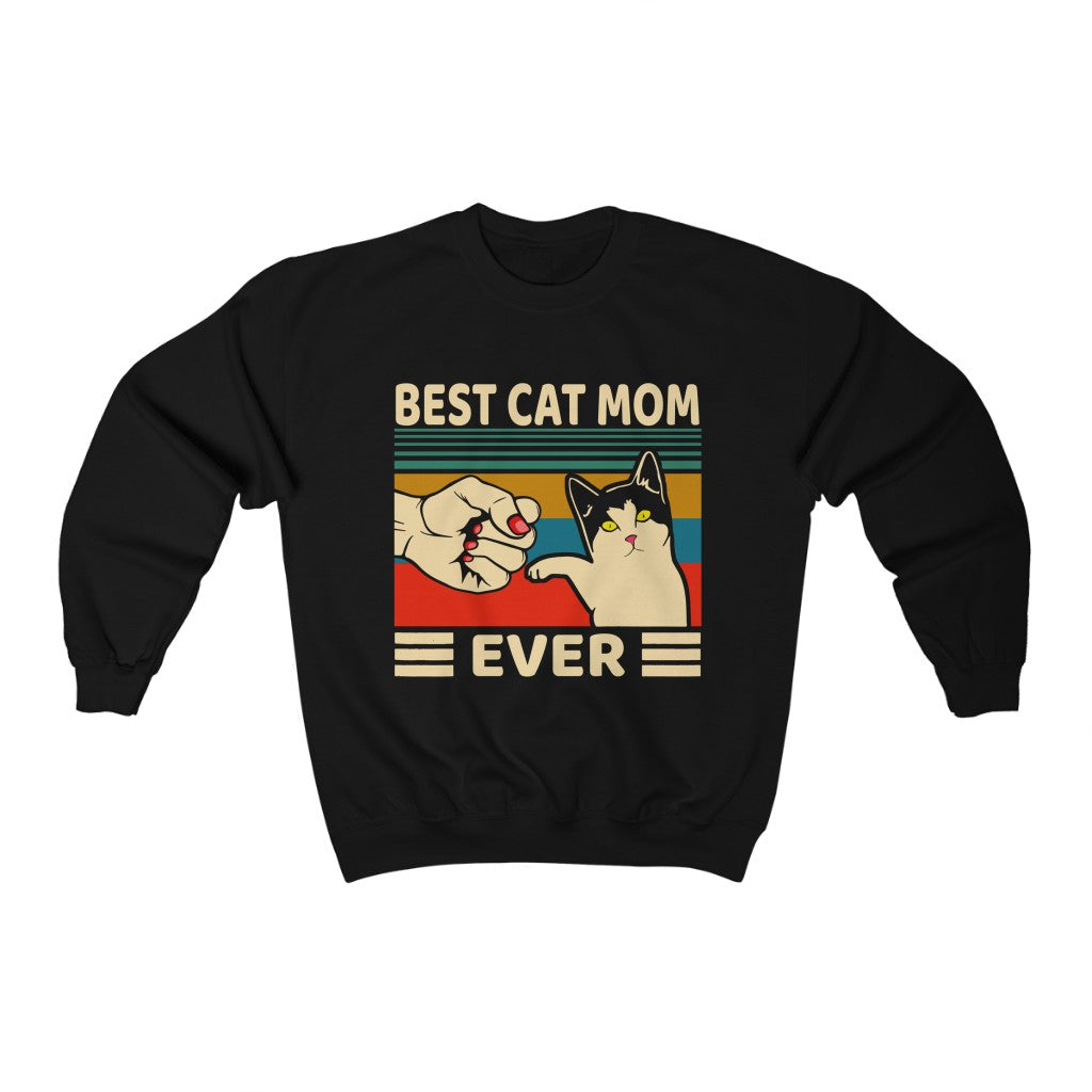best cat mom ever Unisex Heavy Blend™ Crewneck Sweatshirt