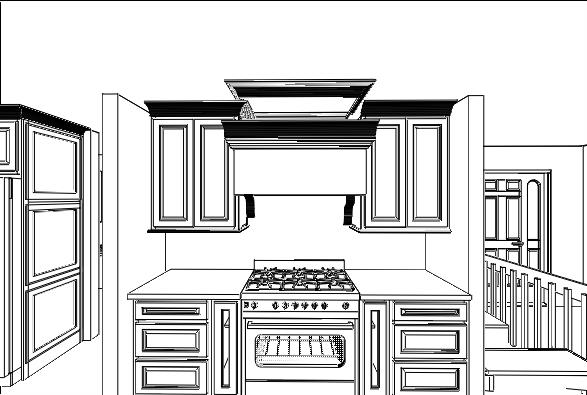 Interior Kitchen Design Example Blueprint by Solution for Spaces, Kalispell Montana