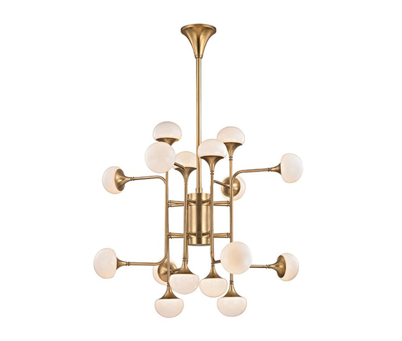 Flemming 16 Light Chandelier Aged Brass