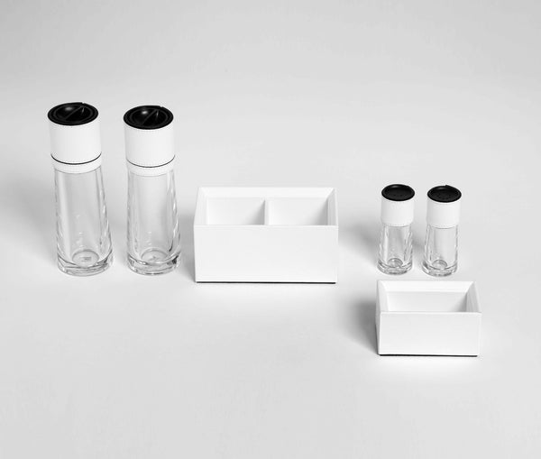 Cilindro Salt and Pepper Set - White
