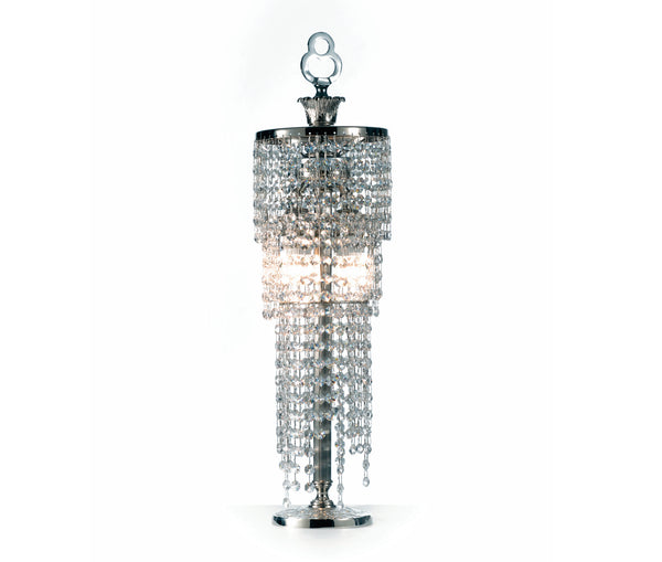 Table lamp with Asfour crystal pendants