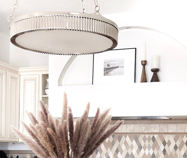 Lynden polished nickel 5 light pendant