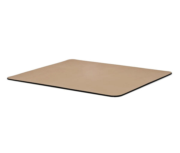 Rectangular Placemat With Round Corners - Taupe Leather