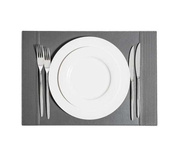 Rectangular Placemat With Side Bands - Blue