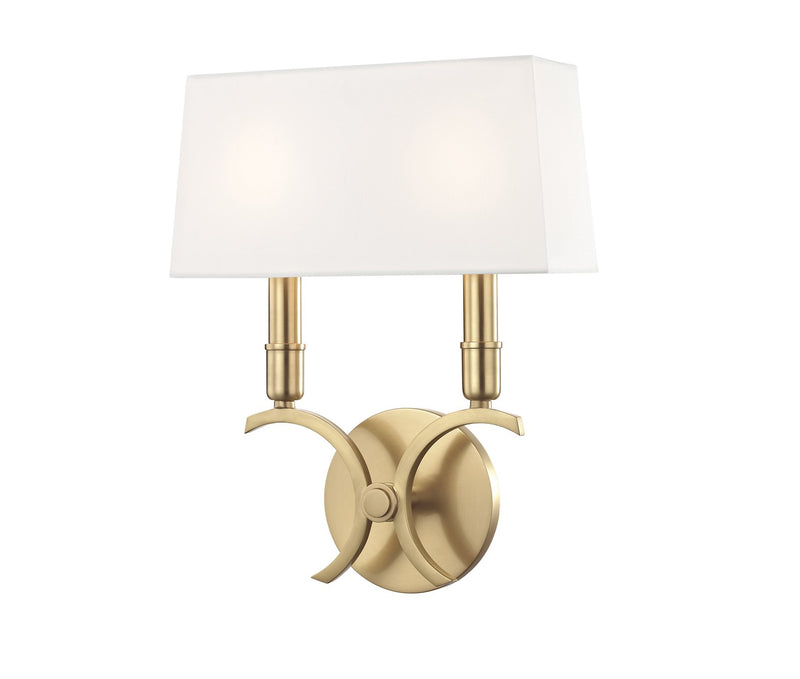 Gwen Aged Brass 2 Light Small Wall Sconce