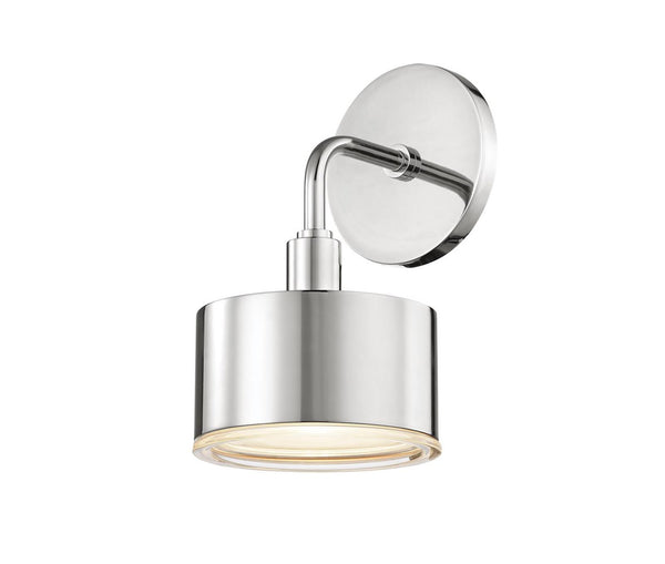 Nora Polished Nickel 1 Light Wall Sconce