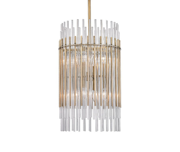 Wallis aged brass 8 light pendant