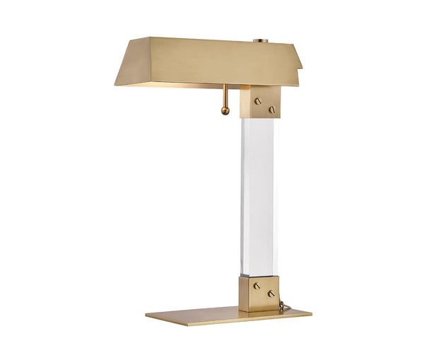 Hunts Point Aged Brass 1 Light Table Lamp