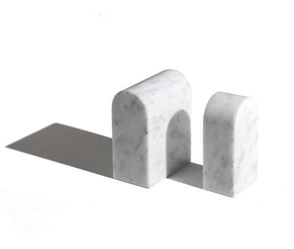 Marble Bookends Rectangle Prism Shape