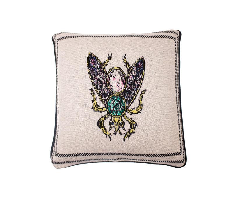 Gothic Inspired Bee Cashmere Cushion