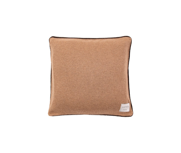 Manchu Violet Patterned Cashmere Cushion