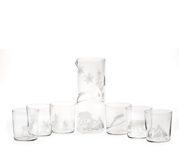 Engraved Snow Glasses Set