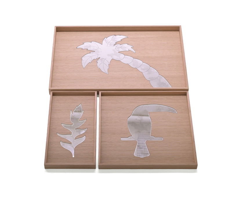 Tropical Reflections Set of 3 Trays