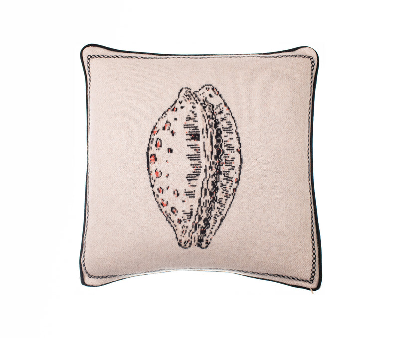Cowry Shell Design Cashmere Cushion