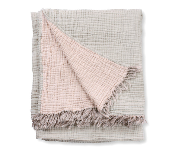 Shell Crinkle Cotton Throw