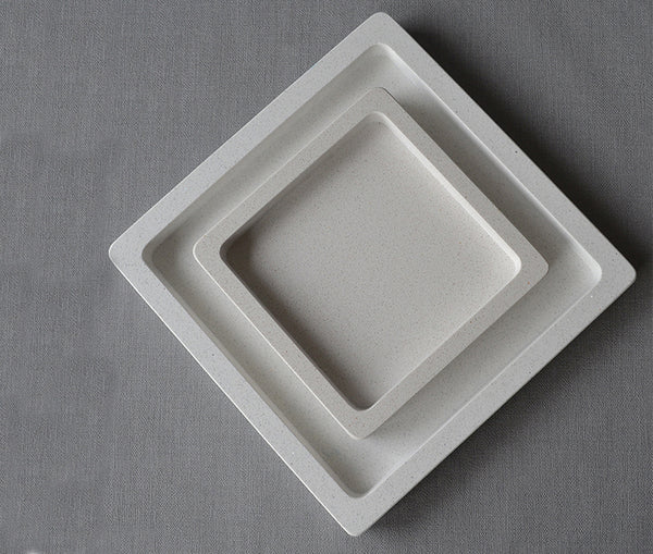 Dorset Tray Speckled White Large