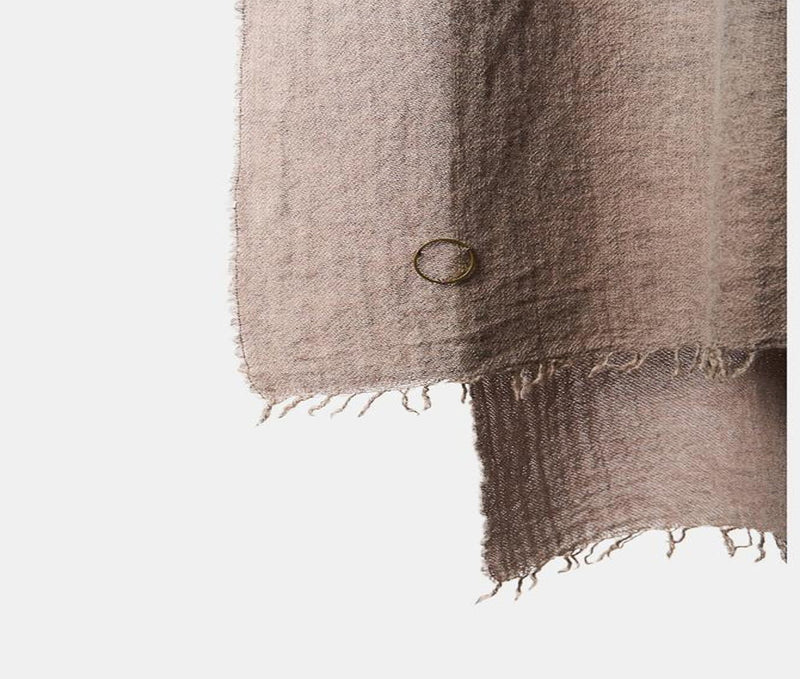 Ambra Woven Luxury Wool and Cashmere Throw