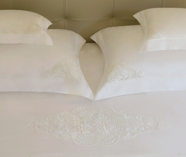 Erte Intimate Duvet Cover Set Natural White