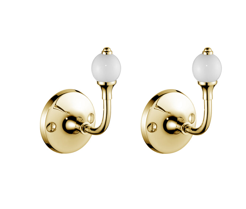 Edwardian Single Robe Hooks (Pair)