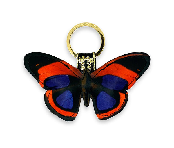 Leather Key Ring - Kahlo Butterfly
