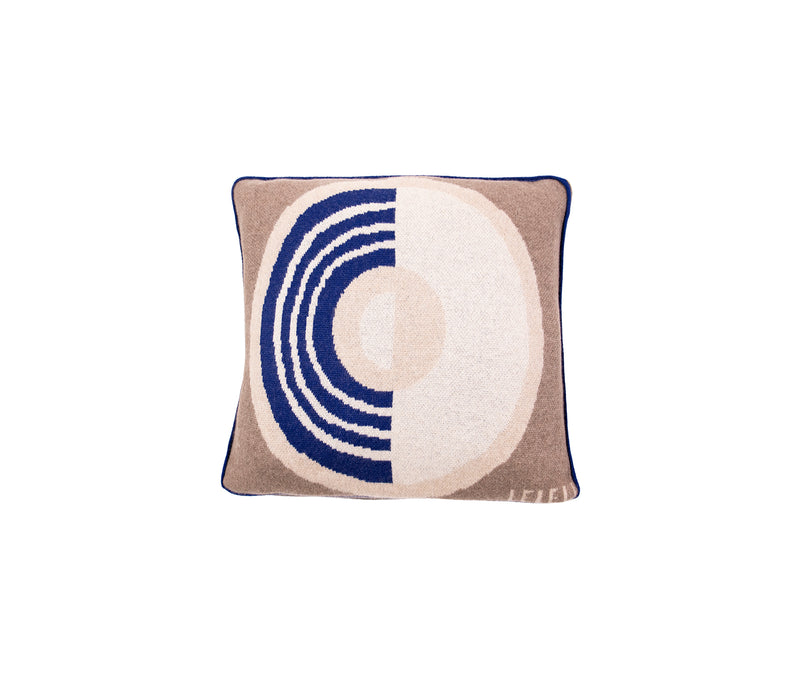 White & Blue Constellation Cashmere Cushion
