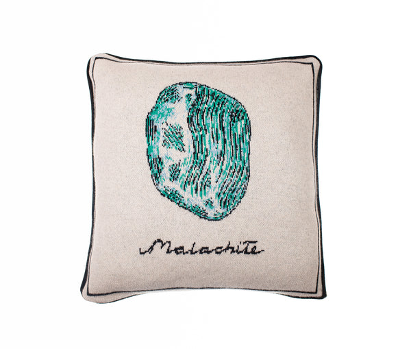 Gothic Malachite Design Cashmere Cushion